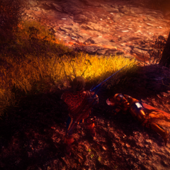 Тело Стенниса на призрачном поле битвы