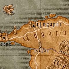 Карта в игре Ведьмак