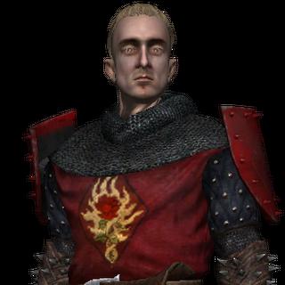 Зигфрид в броне офицера Ордена Пылающей Розы
