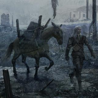 Геральт и Плотва в эпилоге игры <i>Ведьмак</i>