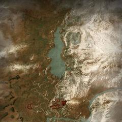 Карта Долины Каэр Морхена в третьей части игры
