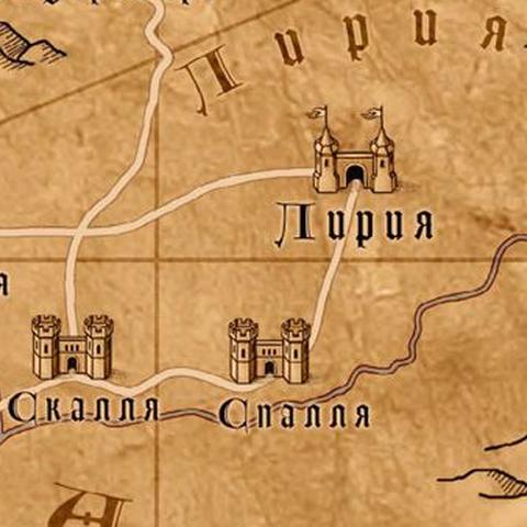 Лирия на карте