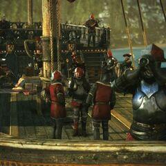 Реданские солдаты на корабле