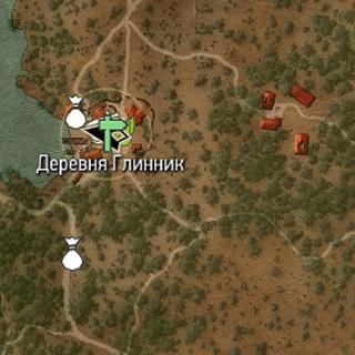 Глинник на карте