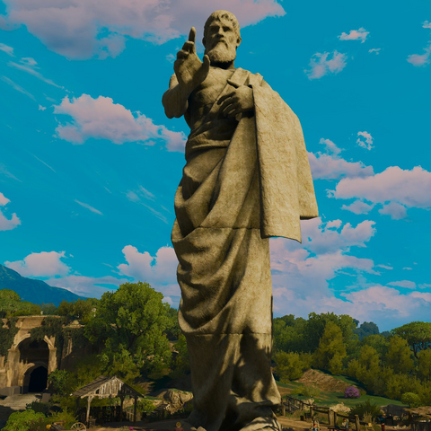 Статуя пророка в дополнении Кровь и Вино
