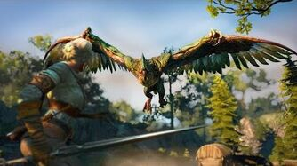 Цири VS Василиск - The Witcher 3 - 60FPS