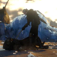 Геральт убивает Карантира