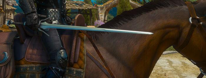 Отличный серебряный меч Школы Грифона В3