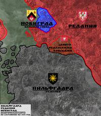 Политическая карта окрестностей Новиграда
