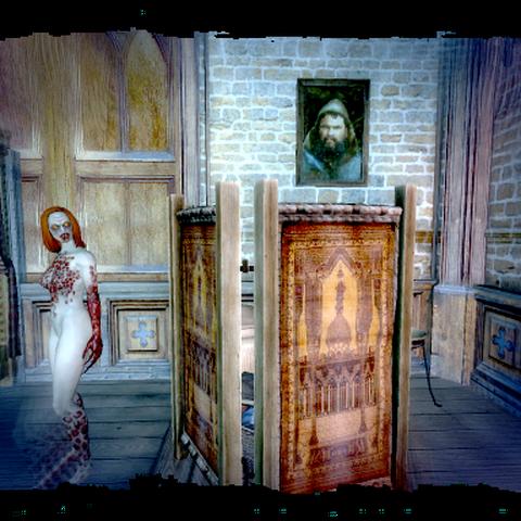 Портрет Ярпена Зигрина на одной из стен