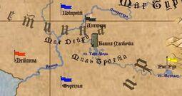 Башня ласточки на карте