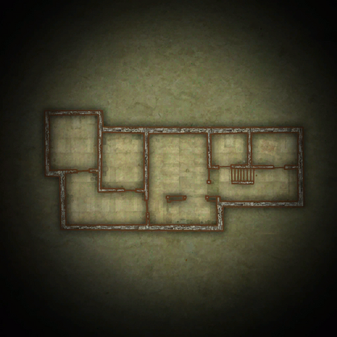 Карта нижнего этажа