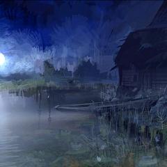 Берег ночью