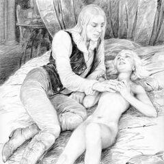 Ауберон и Цири, иллюстрация <a rel=