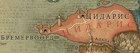 Карта цидариса В2