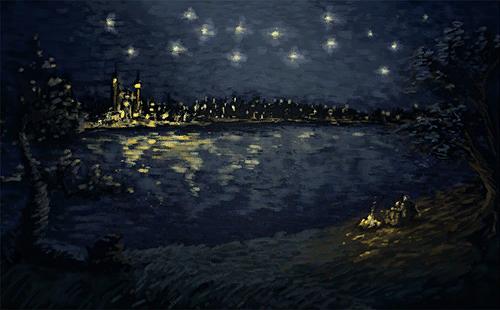 Звездная ночь над понтаром1В3