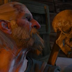 Потерявший рассудок ярл говорит с черепом Вильфреда