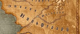 Нильфгаард на карте