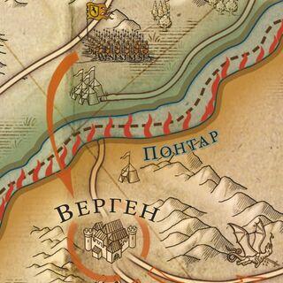 Верген на карте