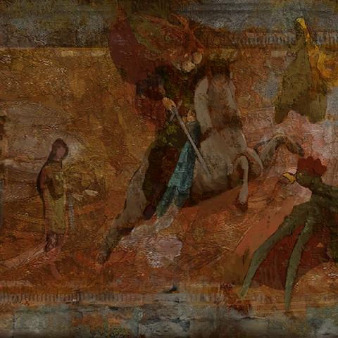 Фреска в Каэр Морхене