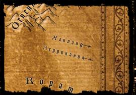 Карта Зеррикания