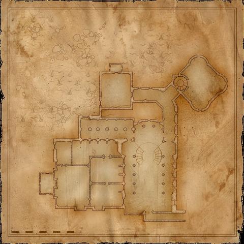Карта замка в игре <i>Ведьмак</i>