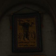 Гобелен в банкетном зале Каэр Трольде, изображающий битву с Мыргыффом
