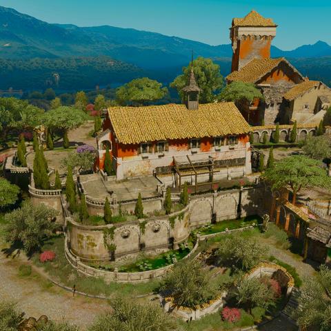Восстановленный Родериком замок