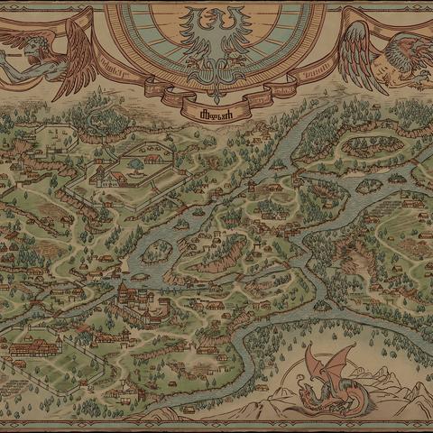 Карта окрестностей Лирии, <i><a href=