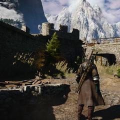 Средний двор крепости
