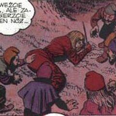 Семь гномов в комиксе «Mniejsze zło»