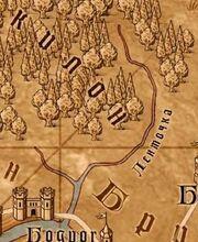 Ленточка на карте