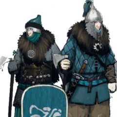 Концепт-арт воинов клана Турсеахов