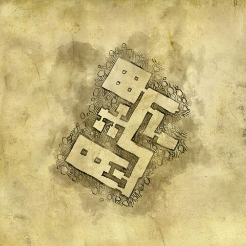 Карта руин лечебницы, второй уровень