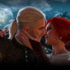 Поцелуй Геральта и Трисс на балу у Вегельбудов