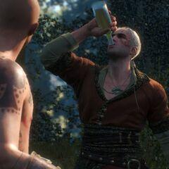 Геральт-Витольд выпивает весь мёд Давида