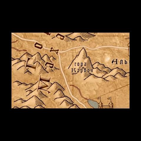 Гора Карбон на карте