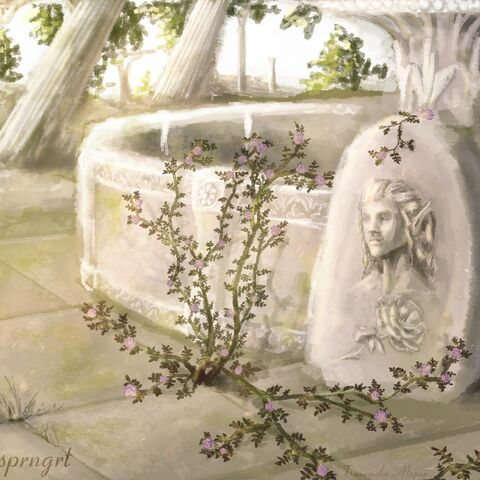 Барельеф у фонтана