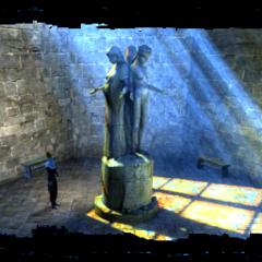 Статуя Мелитэле в лечебнице Лебеды