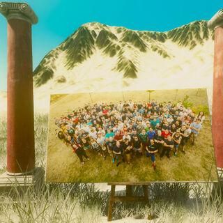 Пасхалка, расположенная на вершине горы