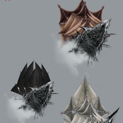 Варианты внешнего вида Нагльфара, официальный арт