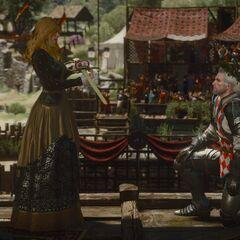 Вивиенна награждает Геральта