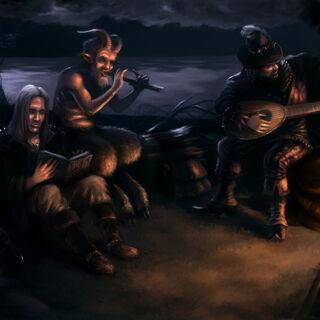 Геральт, Торкве и Лютик, рисунок Afternoon63