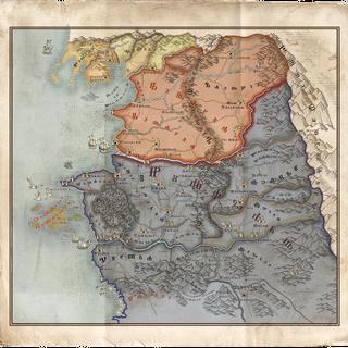 Карта Империи на момент начала событий игры Ведьмак 3