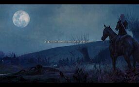 Начало первой главы в игре ведьмак