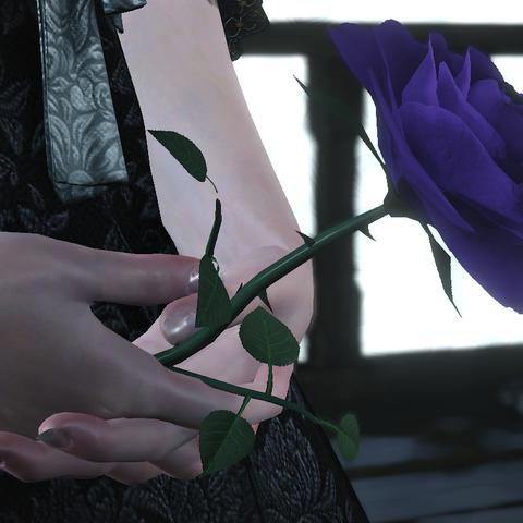 Роза в руках Ирис