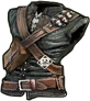 Кожанная куртка с заклепкамиВ1