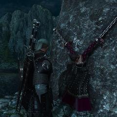 Прикованная Бирна к скале
