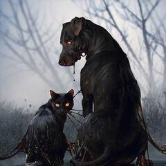Черный кот и черный пес, <i><a href=
