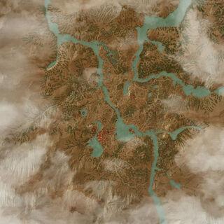 Карта Туссента в дополнении Кровь и Вино